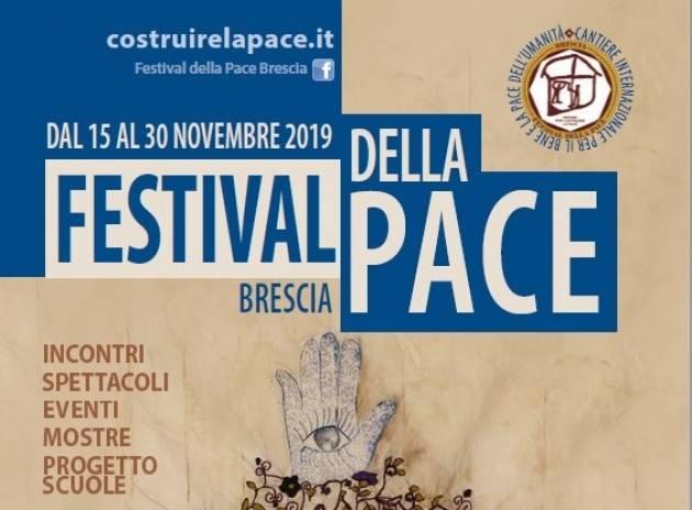 Da venerdì 15 a sabato 30 novembre, a Brescia, la terza edizione del Festival della Pace