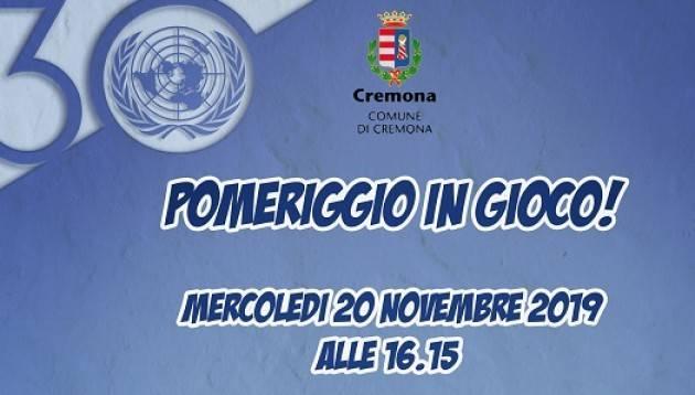 Diritti dell'infanzia, le iniziative promosse dal Comune e dal Comitato UNICEF di Cremona