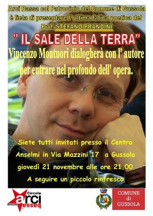 Gussola Vincenzo Montuori presenta il 'Sale della terra' di Stefano Prandini