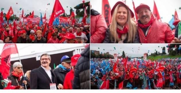Roma Pensionati in piazza per tutti Spi-Cgil