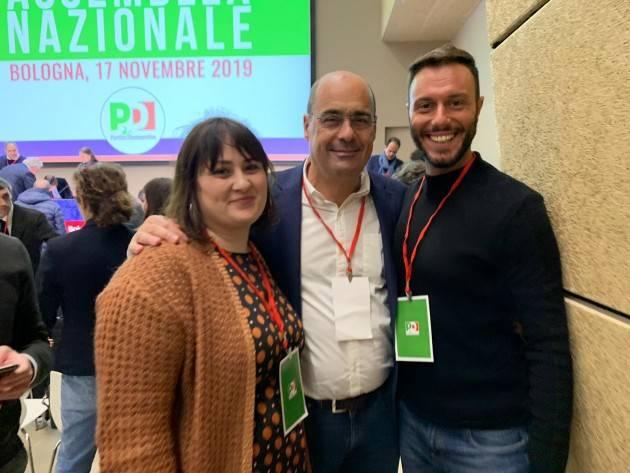 A Bologna alla convention del PD presenti Santo Canale e Greta Savazzi  di Cremona