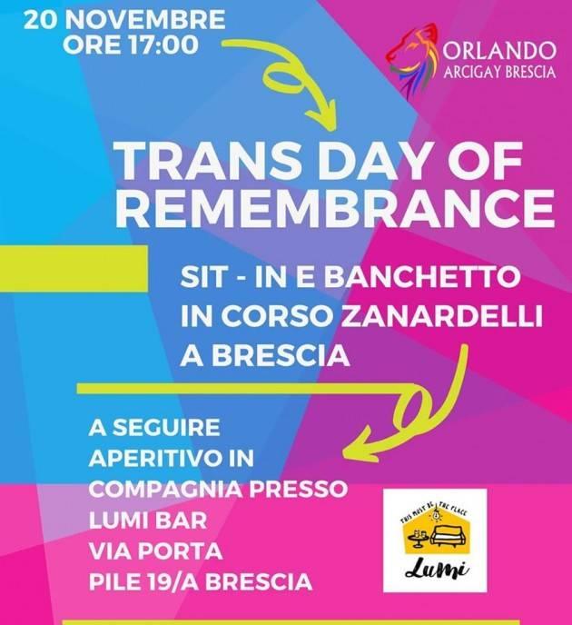 Trans Day of Remembrance a Brescia per ricordare le vittime di transfobia