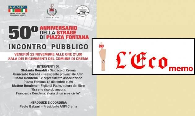L'ECO MEMO - 50°ANNIVERSARIO DELLA STRAGE DI PIAZZA FONTANA