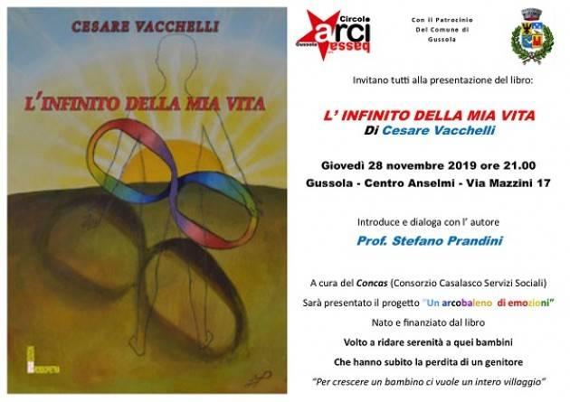 Gussola presentazione del libro:  L'INFINITO DELLA MIA VITA di Cesare Vacchelli