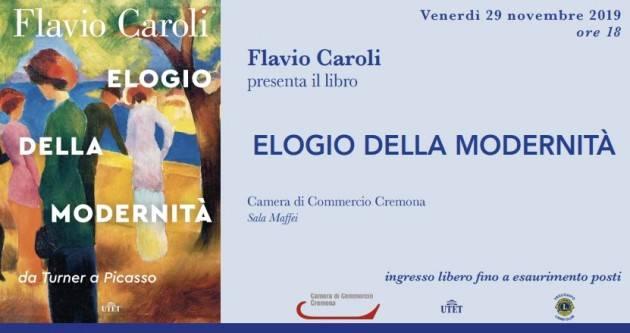 Cremona Presentazione del nuovo libro di Flavio Caroli: 'Elogio della modernità – Da Turner a Picasso'