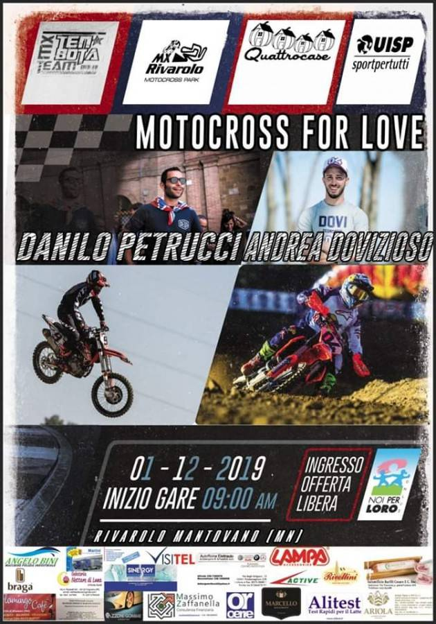 Motocross For Love: Dovizioso e Petrucci a Rivarolo Mantovano per beneficenza