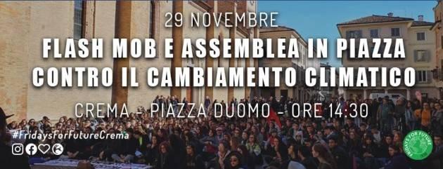 FFF Fridays for Future Crema  Manifestazione 29 Novembre ore 14.30 in p.zza Duomo