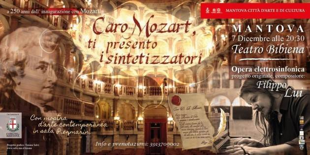 LNM Filippo Lui pianista e compositore  al Teatro Bibiena di Mantova il 7 Dicembre