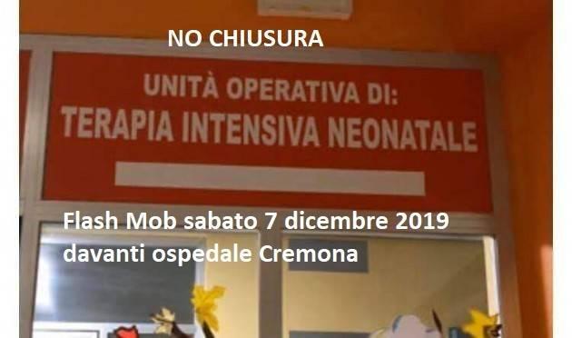 Il PD ADERISCE AL flash mob  del 7 dicembre  NO  AL RIDIMENSIONAMENTO TERAPIA INTENSIVA NEONATALE-Ospedale di Cremona