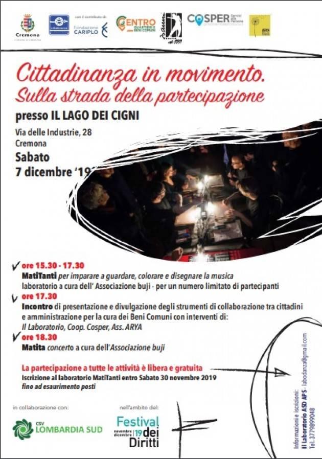 Cremona Sabato 7 dicembre un'iniziativa tutta incentrata sui Beni Comuni