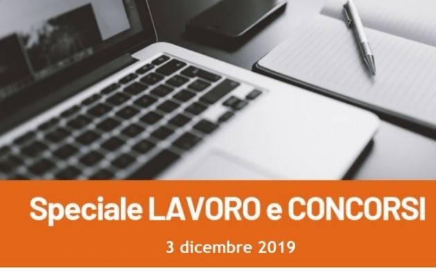 Informa Giovani Cremona SPECIALE LAVORO E CONCORSI del 3 dicembre 2019