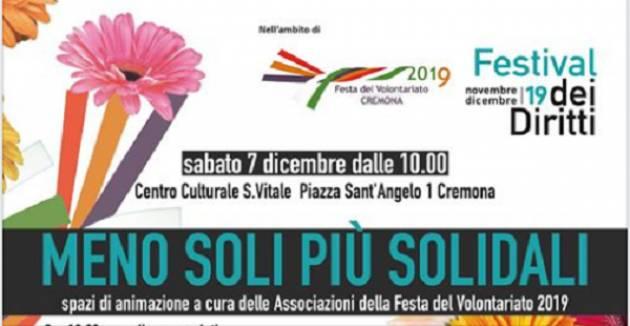 """""""Meno Soli Più Solidali"""" il 7 dicembre a San Vitale"""