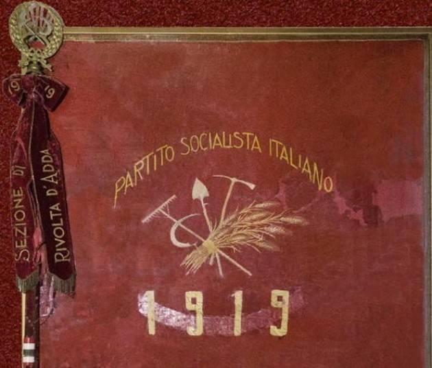 Consegnata al Municipio la centenaria bandiera del PSI