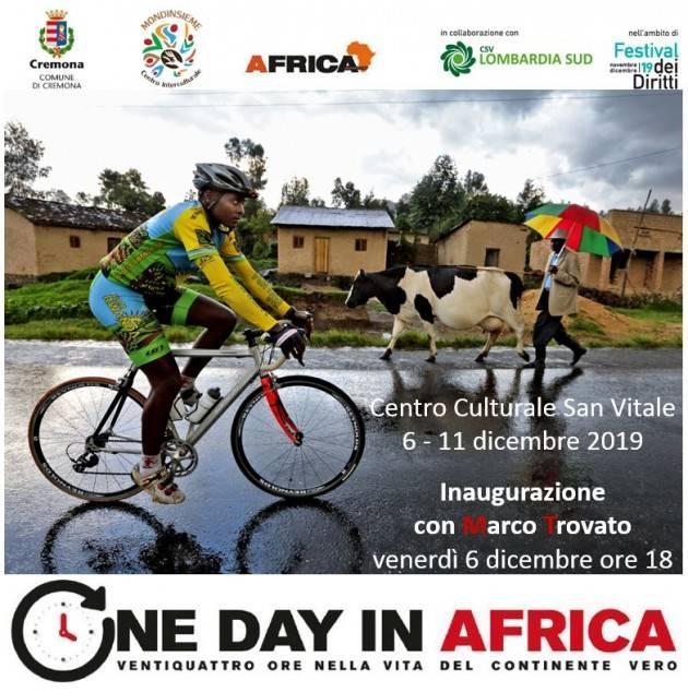 Cremona Inaugurazione a San Vitale della mostra One day in Africa il 6 dicembre