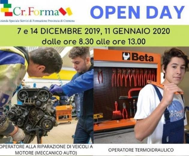 Cremona 7 Dicembre – OPEN DAY a CR.FORMA