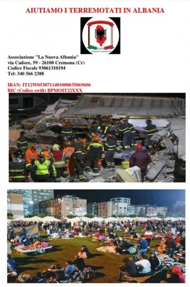 Cremona Raccolta Fondi e Fiaccolata per terremotati Albania Sabato 7 dicembre