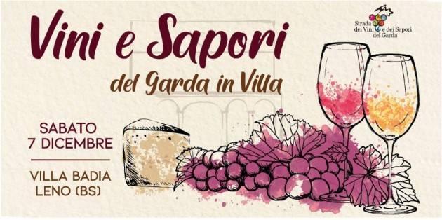 Vini e sapori del Garda in Villa: sabato 7 dicembre tappa a Villa Badia di Leno