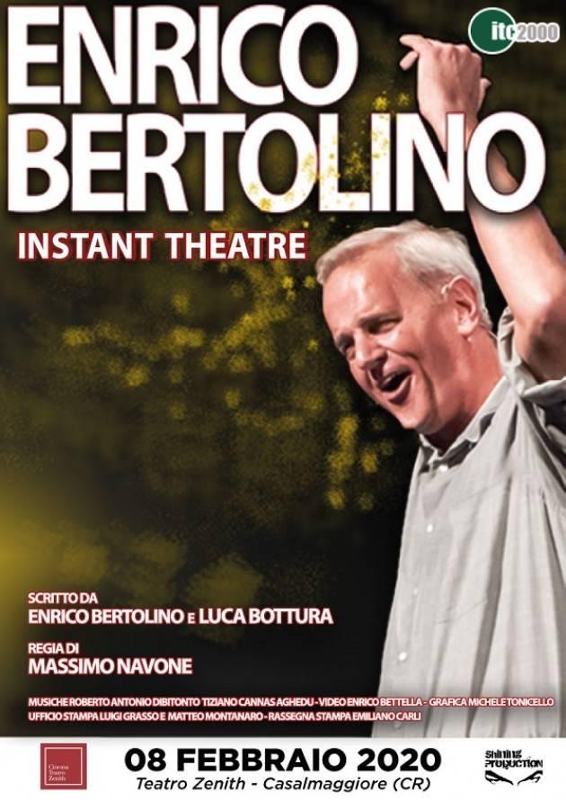 Casalmaggiore Enrico Bertolino allo Zenith: data spostata l'8 febbraio 2020