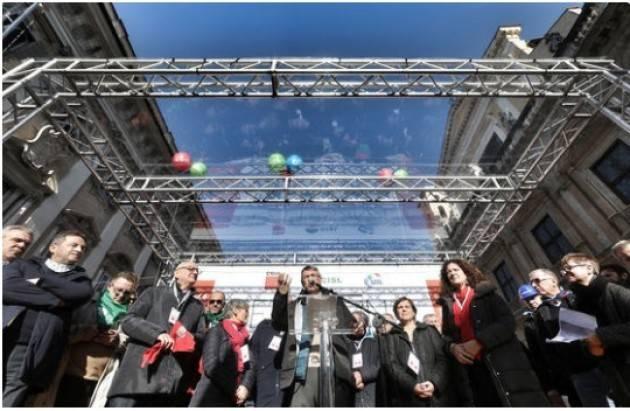 Cgil Roma 10 dicembre Landini: 'Ricostruiamo il Paese puntando sul lavoro'
