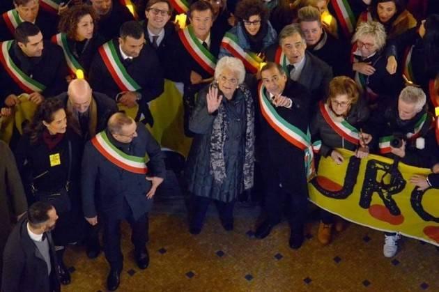 L'ODIO NON HA FUTURO. Bonaldi,  Galimberti, Piloni a Milano  alla marcia a sostegno di Liliana Segre