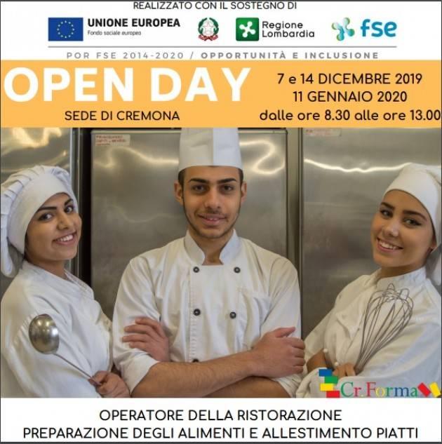Cremona 14 Dicembre – OPEN DAY a CR.FORMA