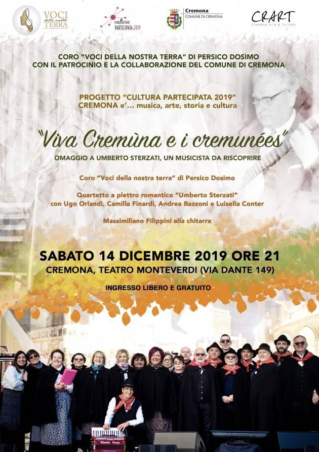 Omaggio a Umberto Sterzati, un musicista da riscoprire  'Viva Cremùna e i cremunées'