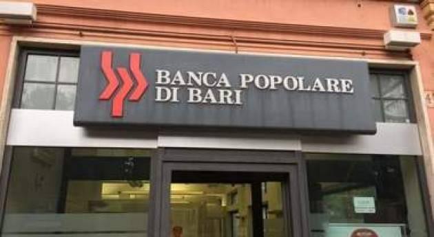 Federconsumatori Il caso Banca Popolare di Bari