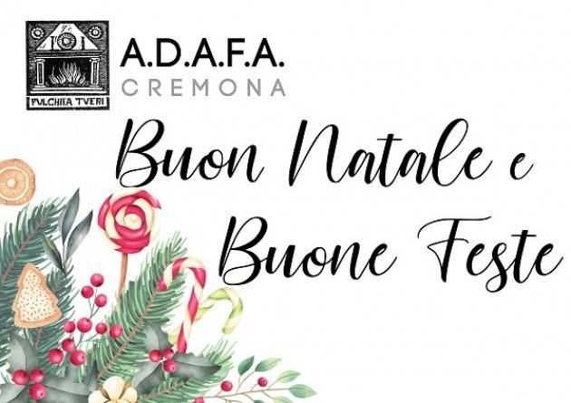 Cremona ,gli auguri di ADAFA ed il calendario di gennaio 2020