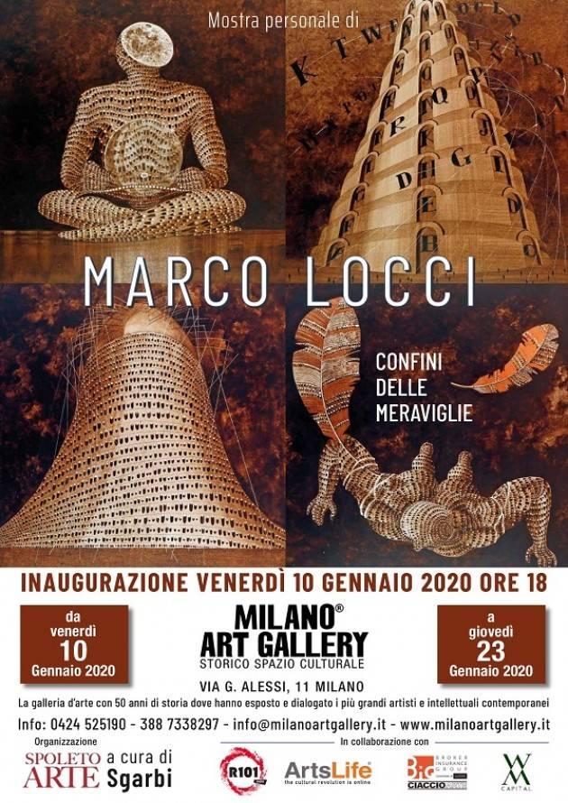 Marco Locci  ,nuova mostra alla Milano Art Gallery, dal 10 al 23 gennaio 2020