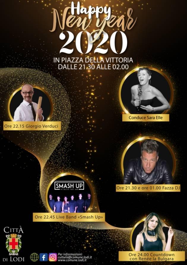 Capodanno 2020 in piazza della Vittoria a Lodi