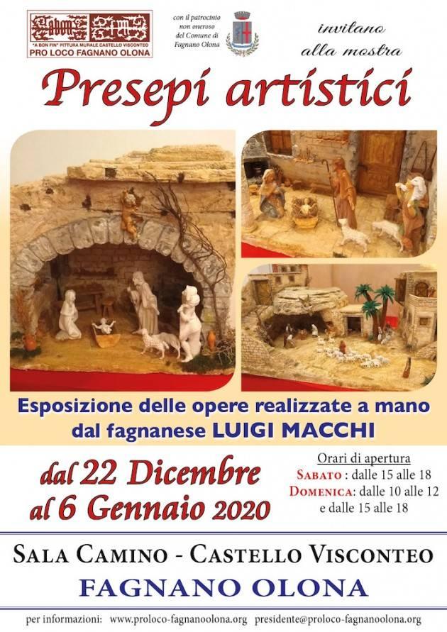 Presepi artistici di Luigi Macchi in mostra al Castello di Fagnano fino al 6/1