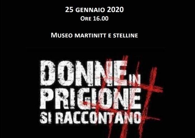 MILANO, 23 GENNAIO  DOCUFILM 'DONNE IN PRIGIONE SI RACCONTANO' DI JO SQUILLO AL MUSEO MARTINITT E STELLINE