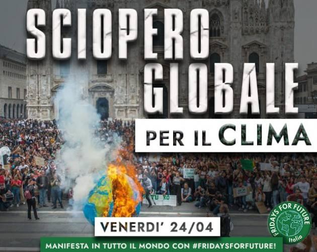 FFF #fridaysforfuture⠀#24Aprile parteciperemo al 5º SCIOPERO GLOBALE per il CLIMA