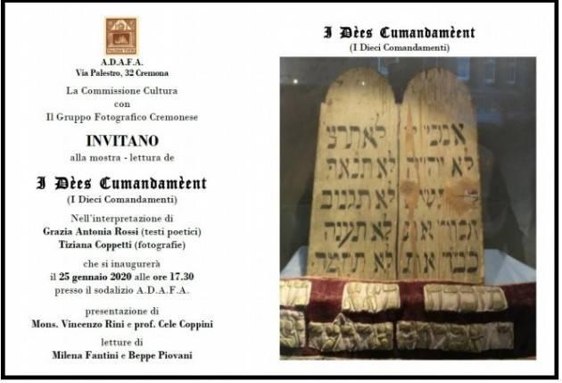 Cremona Mostra i 10 comandamenti ADAFA