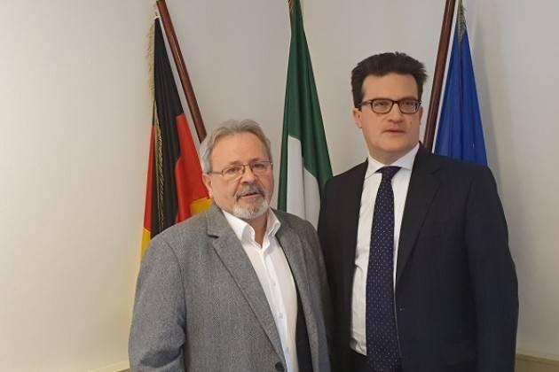 Il presidente del Comites di Hannover Giuseppe scigliano  incontra il Console Generale di Hannover Giorgio Taborri