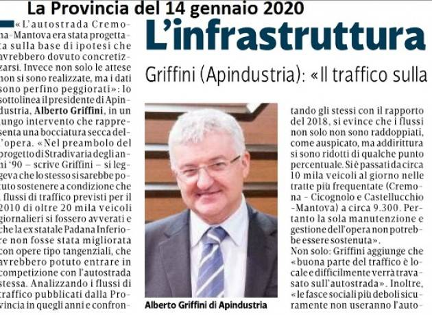 Anche Alberto Griffini, di ApiIndustria dice NO all'autostrada CR-MN di  Vincenzo Montuori