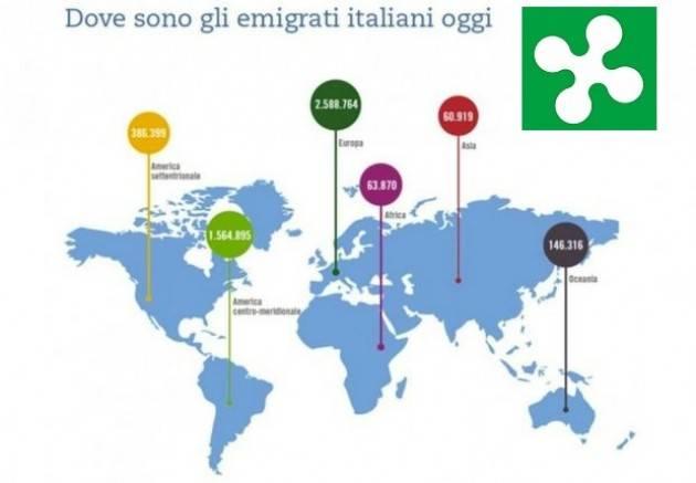 Regione Lombardia. Aperto il bando per attività a favore degli emigrati lombardi all'estero