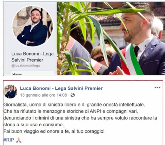 Luca Bonomi Sindaco di Grontardo della Lega risponde al nostro post e forse ci minaccia di querela