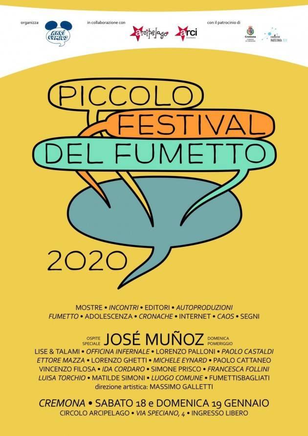 Cremona Piccolo Festival del Fumetto 2020 il 18 e 19 gennaio