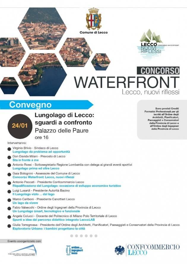 Venerdì 24 gennaio il convegno ''Lungolago di Lecco: sguardi a confronto'' al Palazzo delle Paure