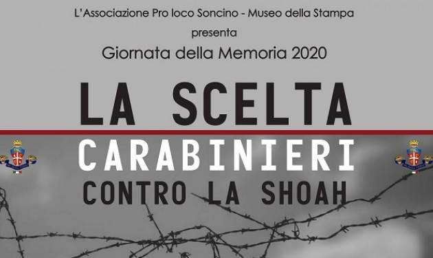 Soncino Giornata della Memoria 2020 – LA SCELTA. Carabinieri contro la Shoah