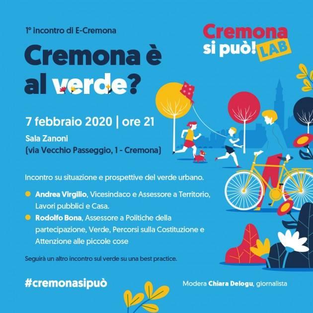 Tre incontri di Cremona si può: Verde urbano, termovalorizzatore e mobilità elettrica