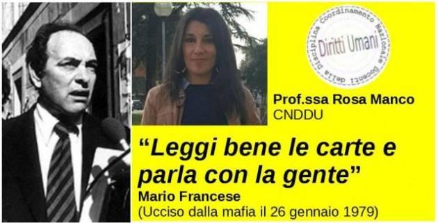 Riflessioni su Mario Francese nel 41°Anniversario  dalla sua uccisione | CNDDU