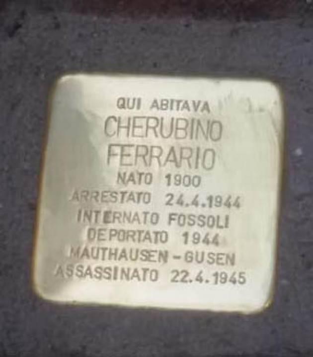 Ad Appiano Gentile posata un pietra d'inciampo in ricordo  di Cherubino Ferrario |© Miriam Ballerini
