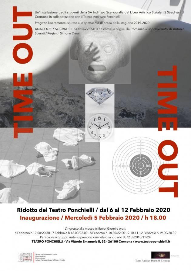 Cremona LICEO ARTISTICO IIS STRADIVARI  E TEATRO PONCHIELLI  presentano TIME OUT