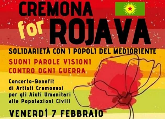 Cremona for Rojava, venerdì 7 febbraio serata-benefit per le popolazioni civili vittime della guerra