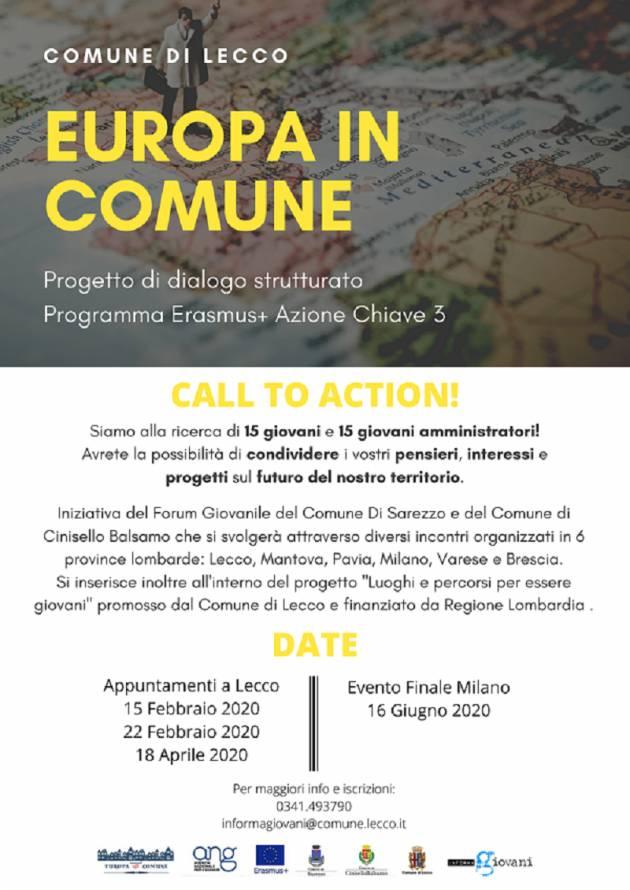 Europa in Comune: parte il progetto all'Informagiovani