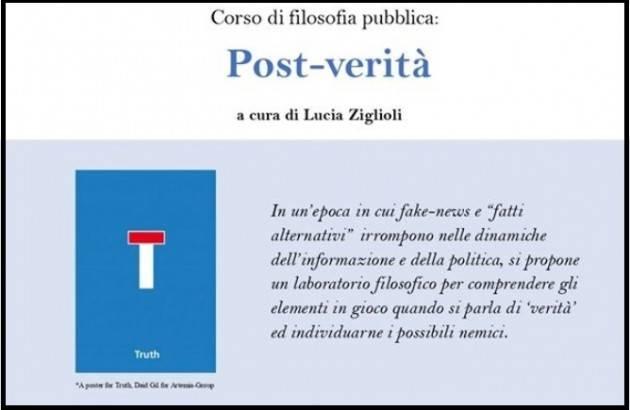 Libreria Convegno Cremona Corso di filosofia pubblica: Post-verità a cura di Lucia Ziglioli