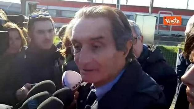 Incidente ferroviario, Fontana all'ospedale di Lodi: vicinanza a feriti e grazie ai soccorritori