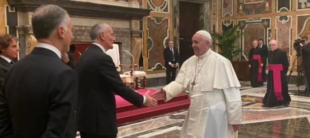 Capo della Polizia in udienza speciale da Papa Francesco